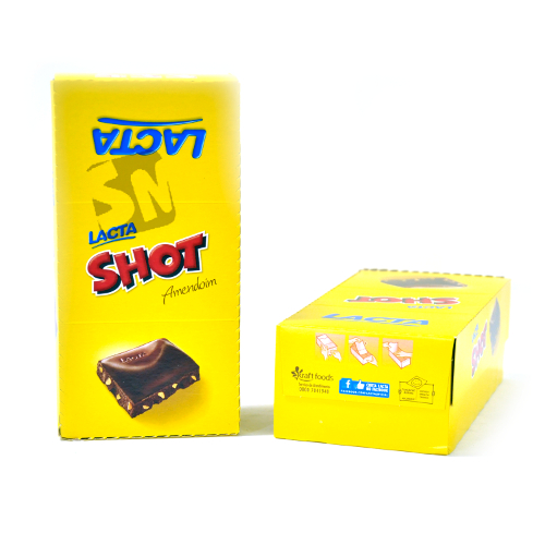 Chocolate Lacta Shot 20g com 20 Unidades